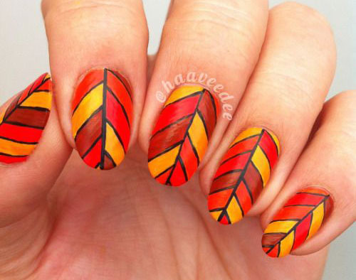 25+ Best Autumn Leaf Nail Art Designs, Ideas & Stickers 2015 | Fall ...