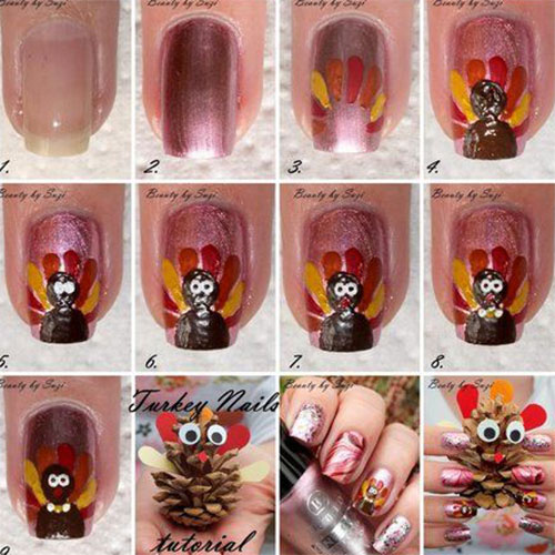 Easy-Step-By-Step-Thanksgiving-Nail-Art-Tutorials-For-Beginners-Learners-2015-1
