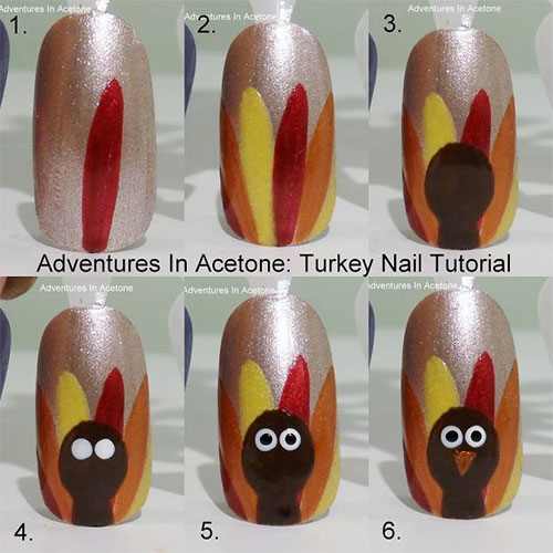 Easy-Step-By-Step-Thanksgiving-Nail-Art-Tutorials- - Easy Step By Step Thanksgiving Nail Art Tutorials For Beginners