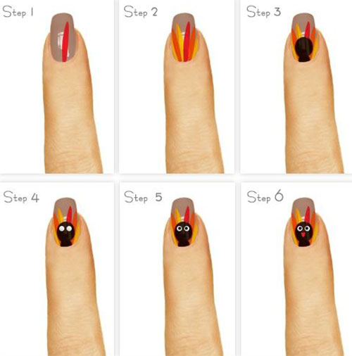 Easy-Step-By-Step-Thanksgiving-Nail-Art-Tutorials-For-Beginners-Learners-2015-5