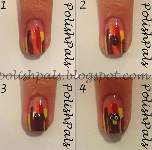 Easy-Step-By-Step-Thanksgiving-Nail-Art-Tutorials-For-Beginners-Learners-2015-6