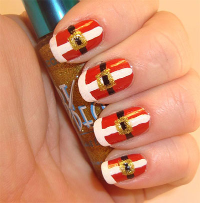 10-Santa-Belt-Nail-Art-Designs-Ideas-Trends-Stickers-2015-Xmas-Nails-5