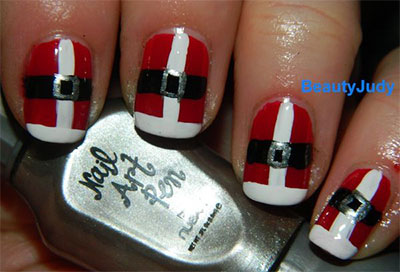 10-Santa-Belt-Nail-Art-Designs-Ideas-Trends-Stickers-2015-Xmas-Nails-7