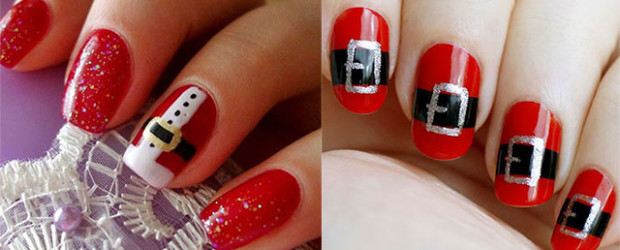 10-Santa-Belt-Nail-Art-Designs-Ideas-Trends-Stickers-2015-Xmas-Nails-F