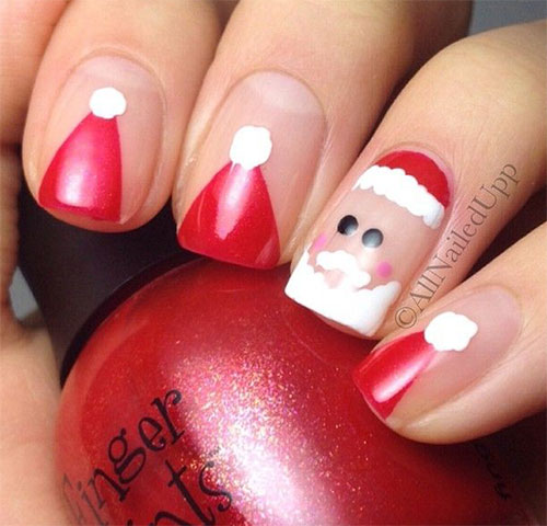 12-Santa-Hat-Nail-Art-Designs-Ideas-Trends-Stickers-2015-Xmas-Nails-1