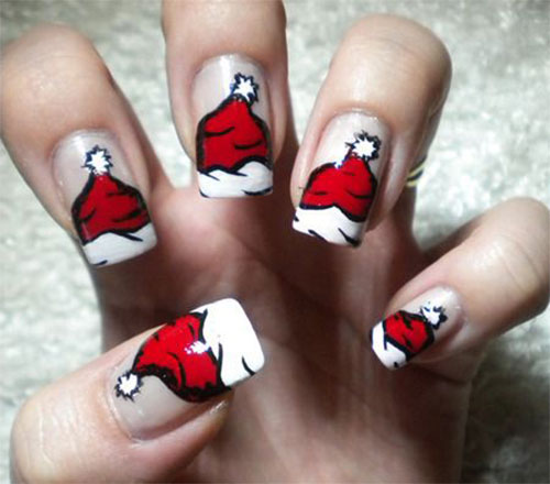 12 Santa Hat Nail Art Designs, Ideas, Trends & Stickers ...