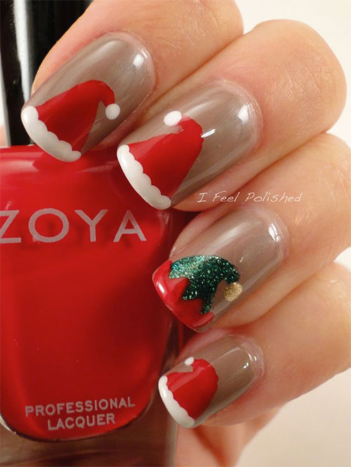 12-Santa-Hat-Nail-Art-Designs-Ideas-Trends-Stickers-2015-Xmas-Nails-2