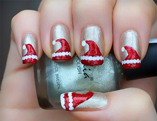 12 santa hat nail art designs ideas trends stickers 2015 12 santa hat nail art designs ideas trends prinsesfo Images