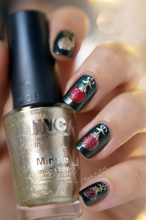 christmas ornament nail art - photo #29
