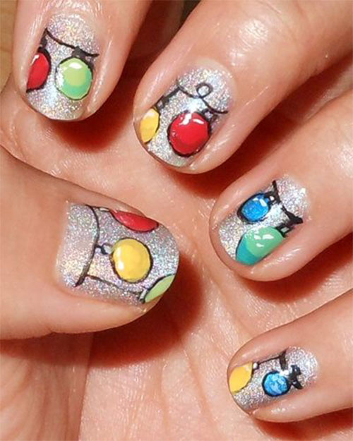 Art Designs: 15 Christmas Ornament Nail Art Designs, Ideas & Stickers