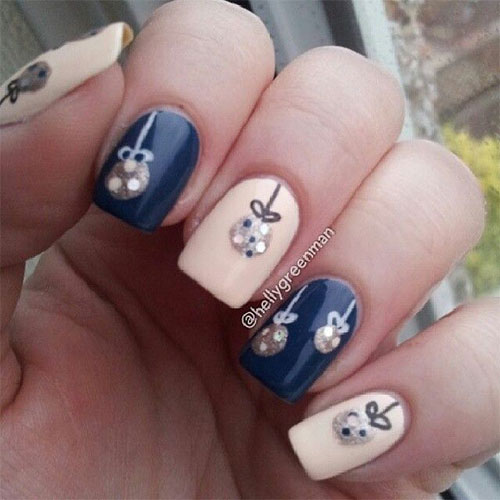 christmas ornament nail art - photo #24
