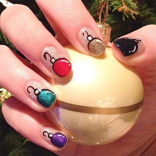christmas ornament nail art - photo #5
