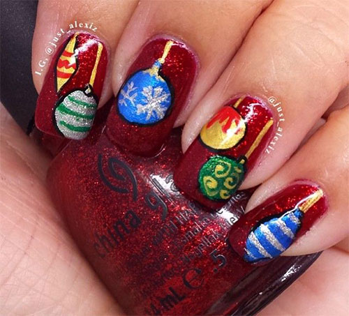 christmas ornament nail art - photo #13