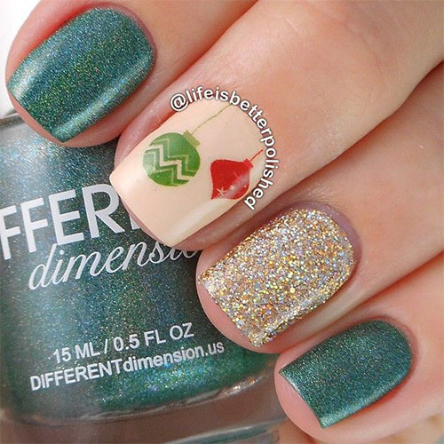 15 Christmas Ornament Nail Art Designs Ideas  Stickers 2015