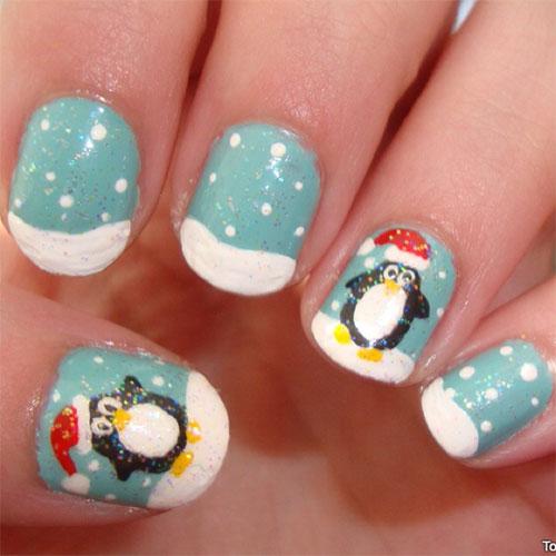 15-Christmas-Penguin-Nail-Art-Designs-Ideas-Stickers-2015-Xmas-Nails-10