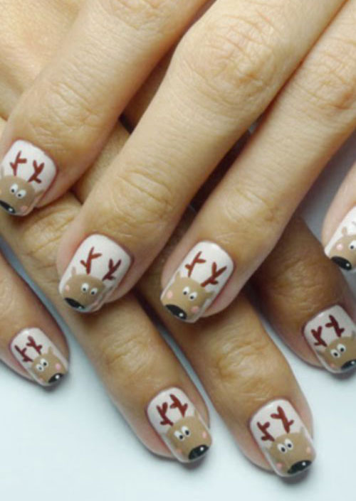 15 reindeer nail art designs ideas stickers 2015 xmas nails 15 reindeer nail art designs ideas stickers 2015 solutioingenieria Gallery