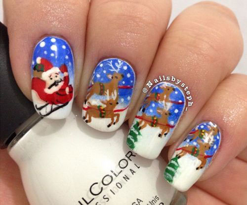 15+ Reindeer Nail Art Designs, Ideas & Stickers 2015 ...