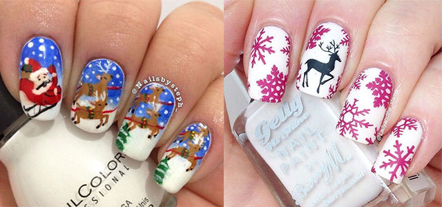 15 Reindeer Nail Art Designs Ideas Stickers 2015 Xmas Nails