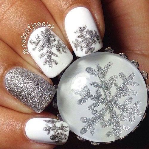 20 Christmas Snowflake Acrylic Nail Art Designs Ideas Amp Stickers 2015 Xmas Nails Fabulous