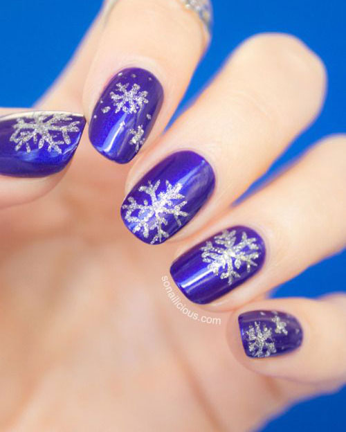20-Christmas-Snowflake-Acrylic-Nail-Art-Designs-Ideas-Stickers-2015-Xmas-Nails-16
