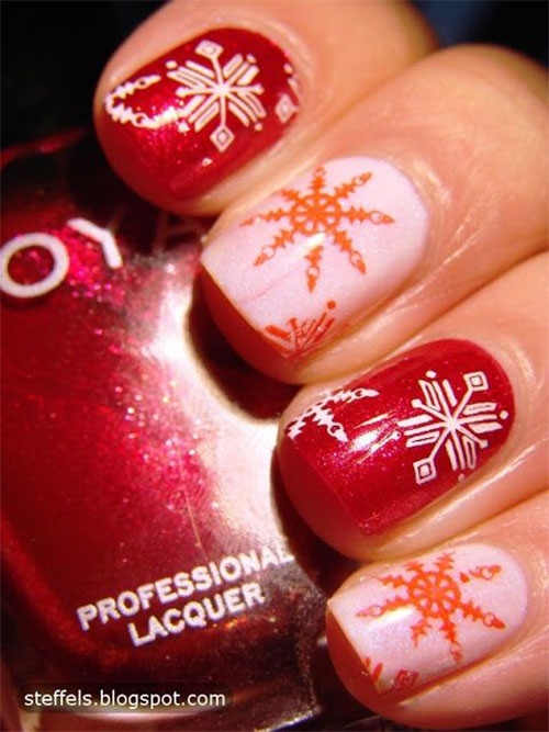 20-Christmas-Snowflake-Acrylic-Nail-Art-Designs-Ideas-Stickers-2015-Xmas-Nails-3