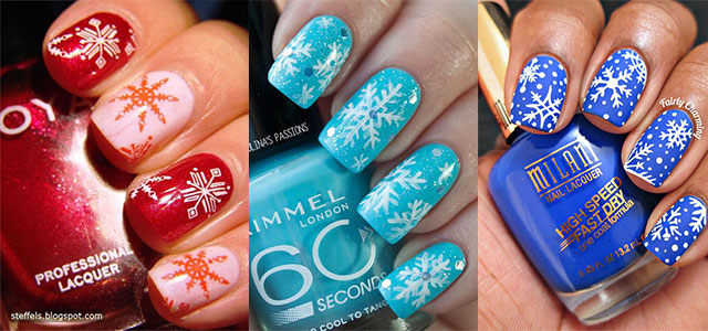 20-Christmas-Snowflake-Acrylic-Nail-Art-Designs-Ideas-Stickers-2015-Xmas-Nails-F