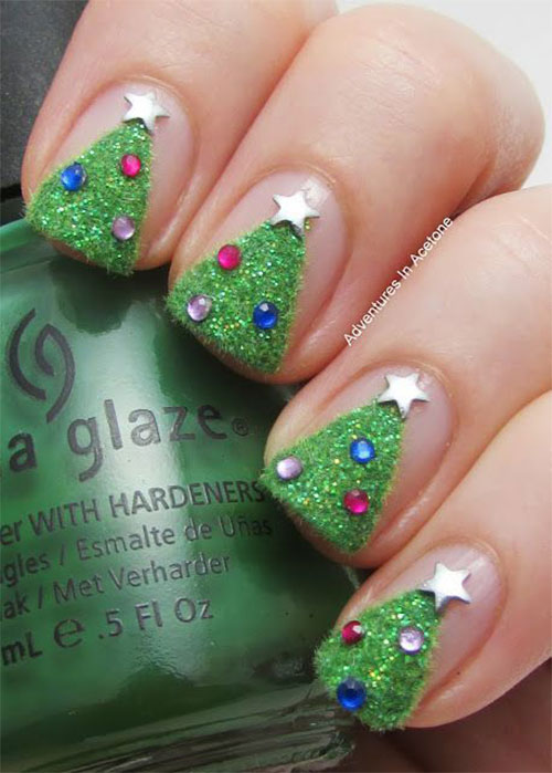 50 Easy Christmas Tree Nail Art Designs Ideas Amp Stickers
