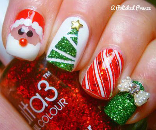 50-Easy-Christmas-Tree-Nail-Art-Designs-Ideas-Stickers-2015-Xmas-Nails-11