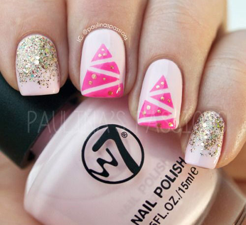 50-Easy-Christmas-Tree-Nail-Art-Designs-Ideas-Stickers-2015-Xmas-Nails-12