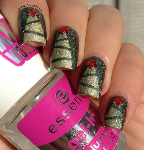 50-Easy-Christmas-Tree-Nail-Art-Designs-Ideas-Stickers-2015-Xmas-Nails-15