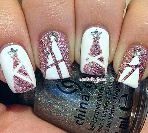 50-Easy-Christmas-Tree-Nail-Art-Designs-Ideas-Stickers-2015-Xmas-Nails-18