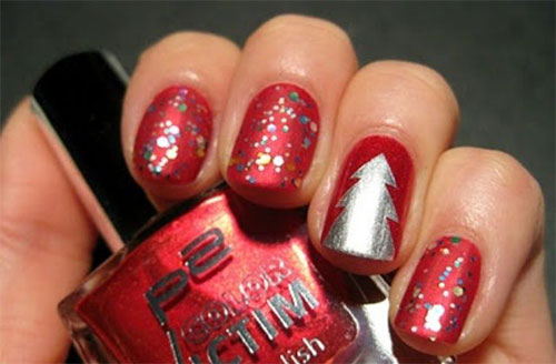 50-Easy-Christmas-Tree-Nail-Art-Designs-Ideas-Stickers-2015-Xmas-Nails-19