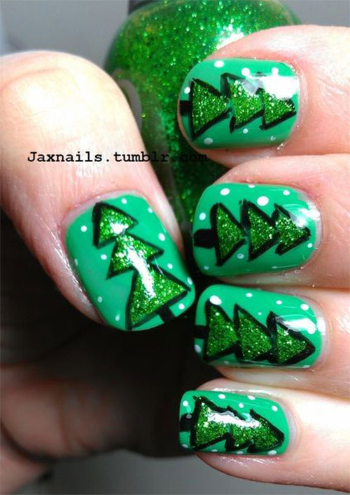 50-Easy-Christmas-Tree-Nail-Art-Designs-Ideas-Stickers-2015-Xmas-Nails-24
