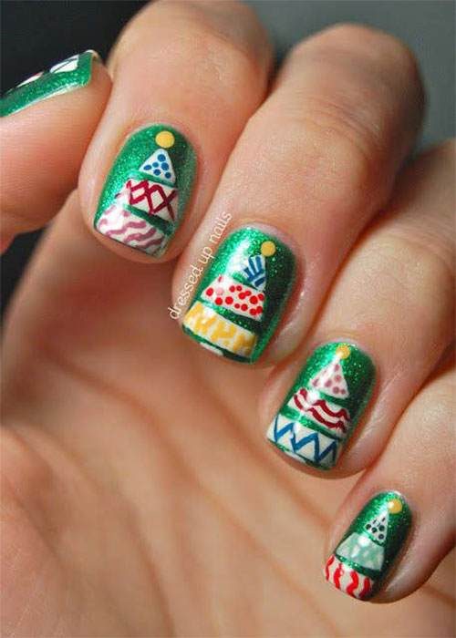 50-Easy-Christmas-Tree-Nail-Art-Designs-Ideas-Stickers-2015-Xmas-Nails-27
