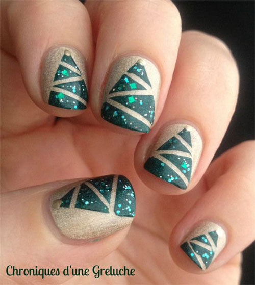 Easy Christmas Nail Art: 50 Easy Christmas Tree Nail Art Designs, Ideas & Stickers