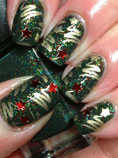 50-Easy-Christmas-Tree-Nail-Art-Designs-Ideas-Stickers-2015-Xmas-Nails-3