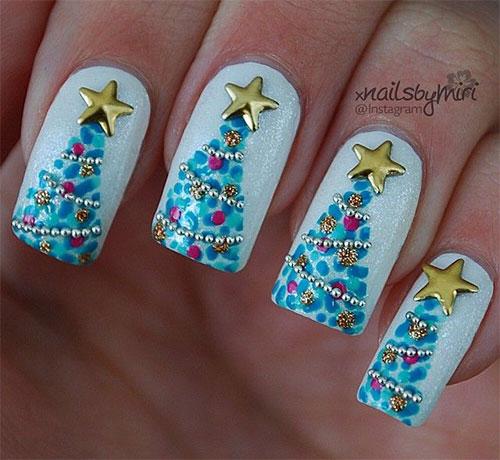 50-Easy-Christmas-Tree-Nail-Art-Designs-Ideas-Stickers-2015-Xmas-Nails-31