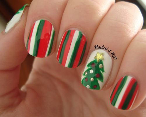 50-Easy-Christmas-Tree-Nail-Art-Designs-Ideas-Stickers-2015-Xmas-Nails-32