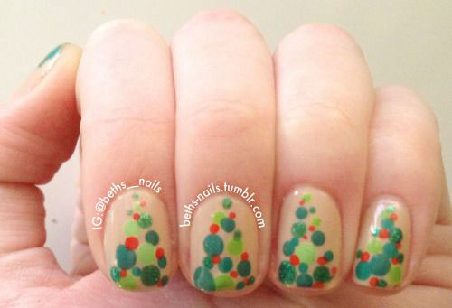 50-Easy-Christmas-Tree-Nail-Art-Designs-Ideas-Stickers-2015-Xmas-Nails-33