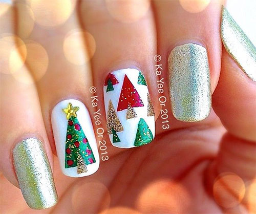 50-Easy-Christmas-Tree-Nail-Art-Designs-Ideas- - 50 Easy Christmas Tree Nail Art Designs, Ideas & Stickers 2015