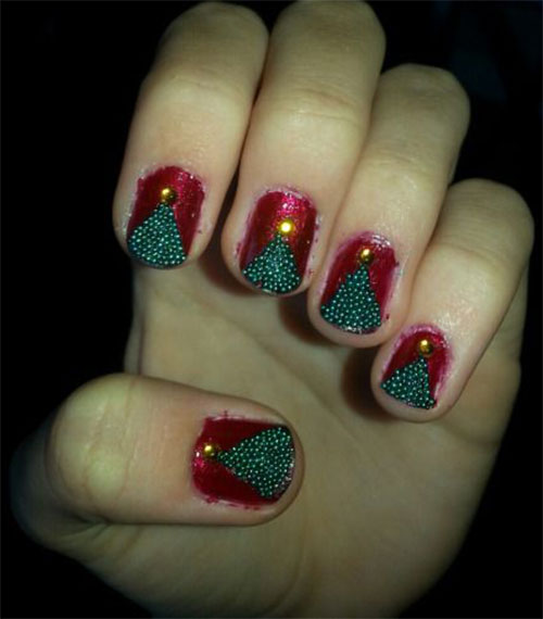 50-Easy-Christmas-Tree-Nail-Art-Designs-Ideas-Stickers-2015-Xmas-Nails-38