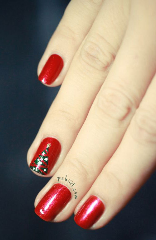 50-Easy-Christmas-Tree-Nail-Art-Designs-Ideas-Stickers-2015-Xmas-Nails-39