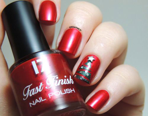 50-Easy-Christmas-Tree-Nail-Art-Designs-Ideas-Stickers-2015-Xmas-Nails-41