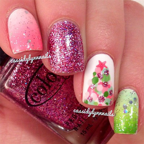 50-Easy-Christmas-Tree-Nail-Art-Designs-Ideas-Stickers-2015-Xmas-Nails-42