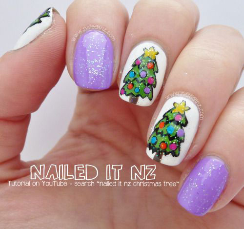 50-Easy-Christmas-Tree-Nail-Art-Designs-Ideas-Stickers-2015-Xmas-Nails-45