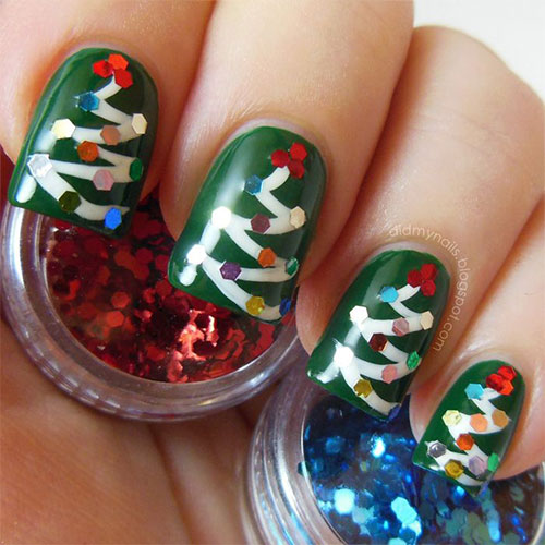 50-Easy-Christmas-Tree-Nail-Art-Designs-Ideas-Stickers-2015-Xmas-Nails-48