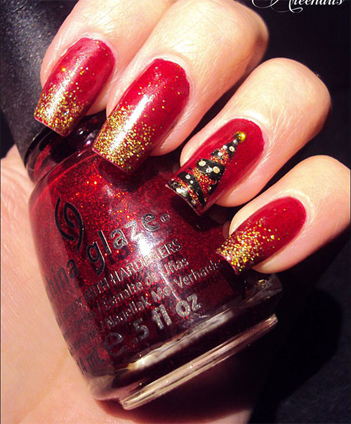 50-Easy-Christmas-Tree-Nail-Art-Designs-Ideas-Stickers-2015-Xmas-Nails-5