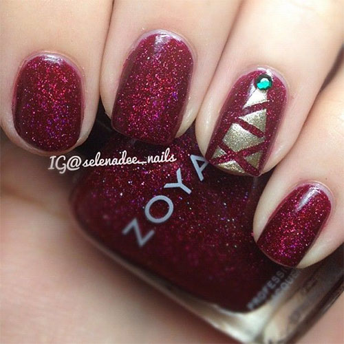 50-Easy-Christmas-Tree-Nail-Art-Designs-Ideas-Stickers-2015-Xmas-Nails-7