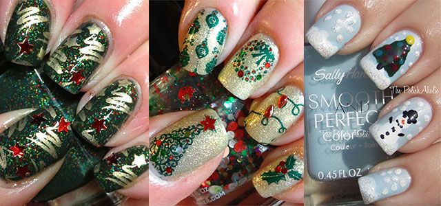 50 Easy Christmas Tree Nail Art Designs Ideas Stickers 2015