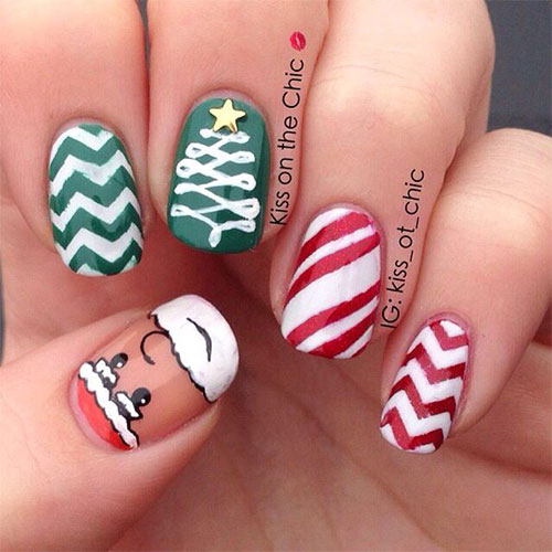 Christmas-Santa-Face-Nail-Art-Designs-Ideas-Stickers-2015-Xmas-Nails-1